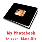 My PhotoBook A4 quer - Black Silk - 10er Box