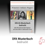 Hahnemühle DFA Musterbuch bedruckt - A5